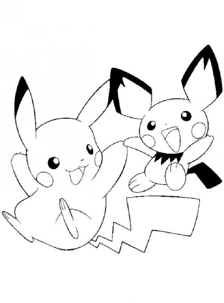 Pikachu And Pichu Coloring Pages Coloring Pages Ideas In 2019