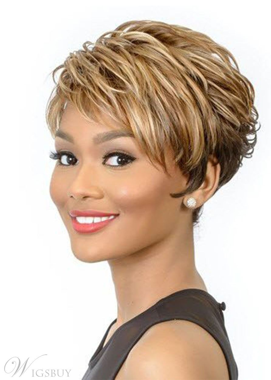 Brown Wigs for Women Short Straight Hair Wig Synth