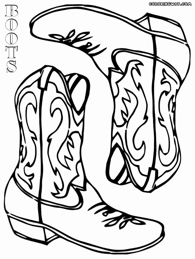 Cowboy Boots Coloring Page Fresh Cowboy Boots Coloring Pages In
