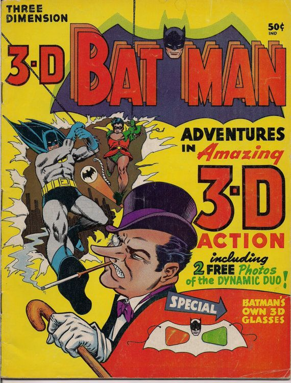 FOR SALE-DC Comics1966 3D Three Dimension BATMAN #QualityComicsAmerica