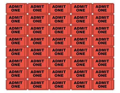 free printable admit one ticket templates blank