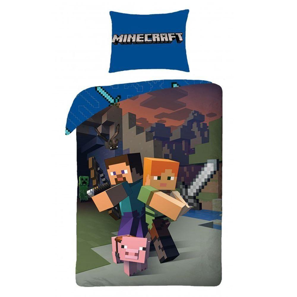 Minecraft Bettwäsche Kinder Bettwäsche 140x200 cm | Minecraft ...