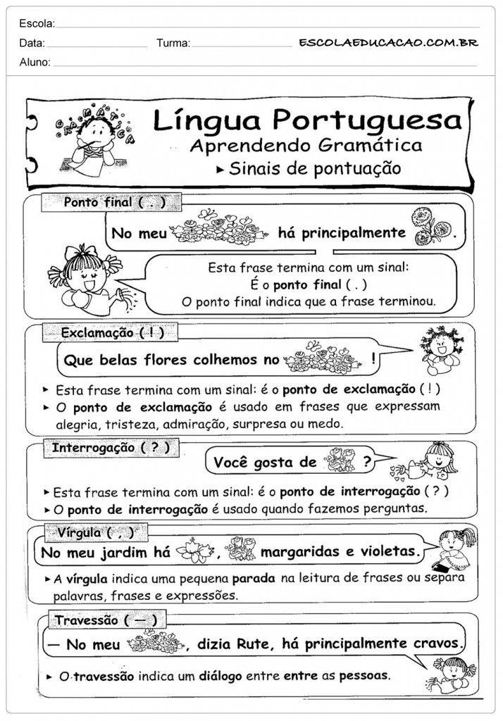 Suficiente Atividades de Português 3º ano - Sinais de Pontuação  LN93