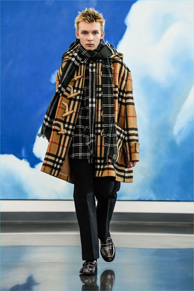 2a5f7141610 A check duffle coat is an easy standout from Gosha Rubchinskiy s  fall-winter 2018 Burberry collaboration.