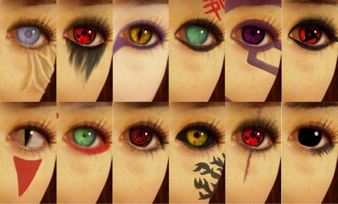 Amazing Contact Lenses D From Naruto Naruto Eyes Naruto Characters Naruto