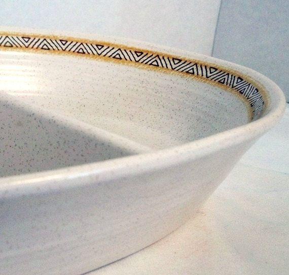 Vintage Franciscan Ware Hacienda Gold Divided Dish Earthenware ...
