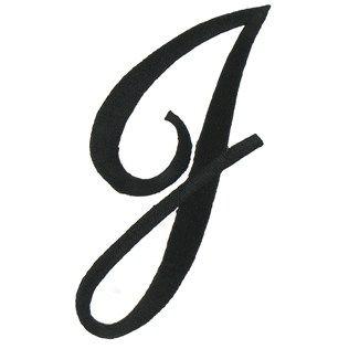 Joy 3 Black Embroidered Iron-On Script Letter - J   Shop ...