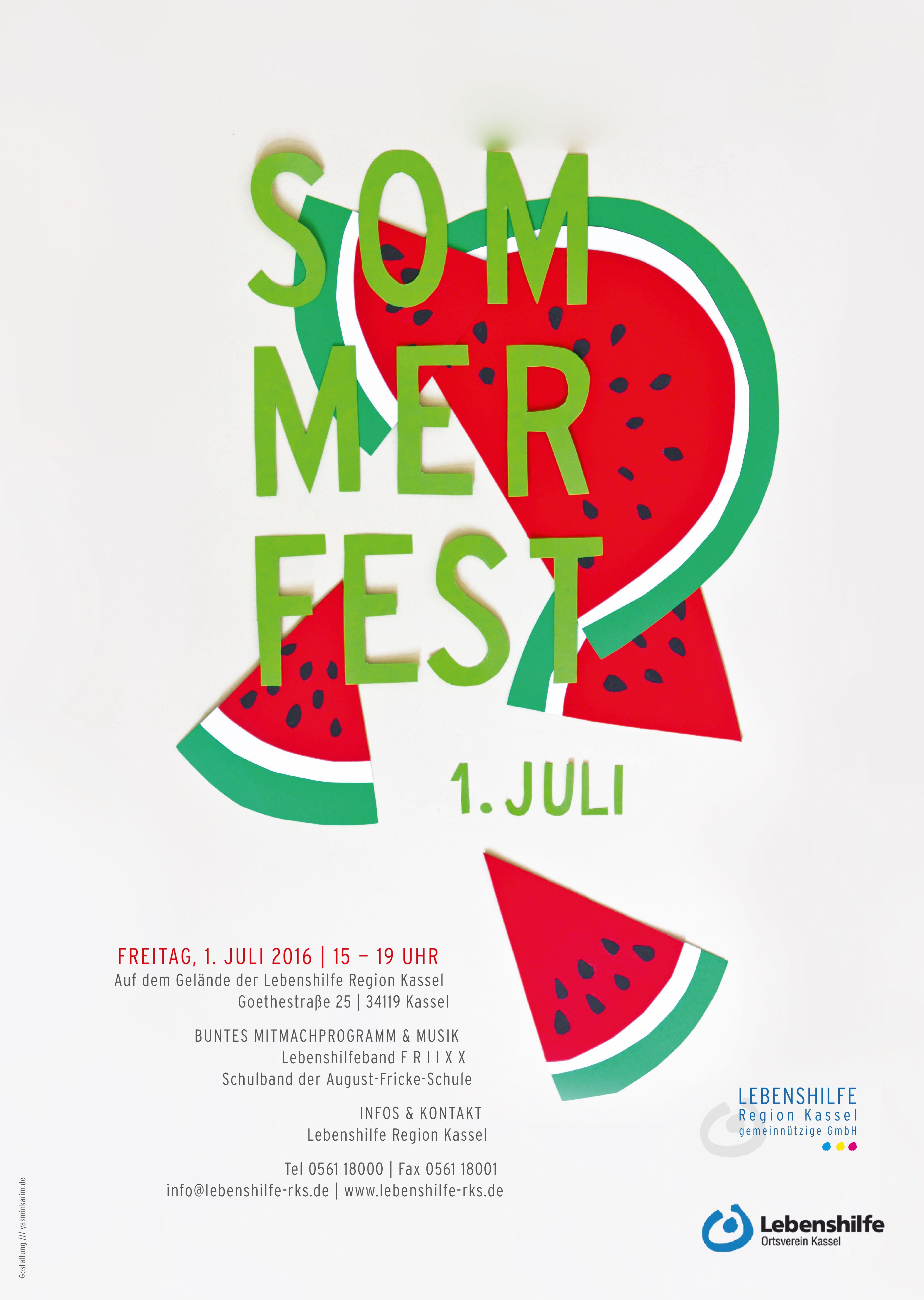Photo of Lebenshilfe sommerfestivalplakat 2016