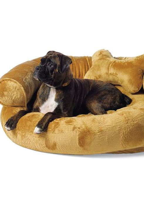 Your Pet Will Love The Comfort Of Fleece Comfy Couch Bed That Features A