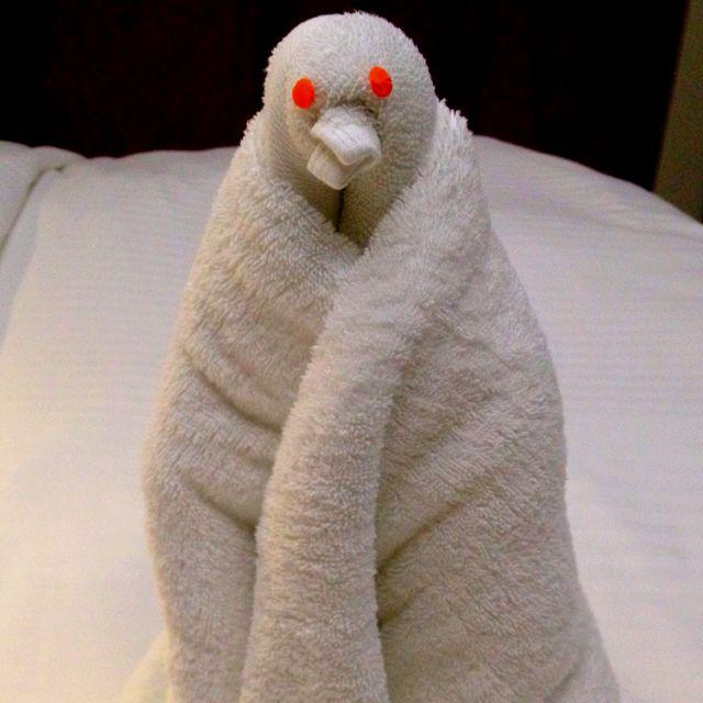 Towel Animal Towel Origami Penguin Cruise Ship Towel Folding