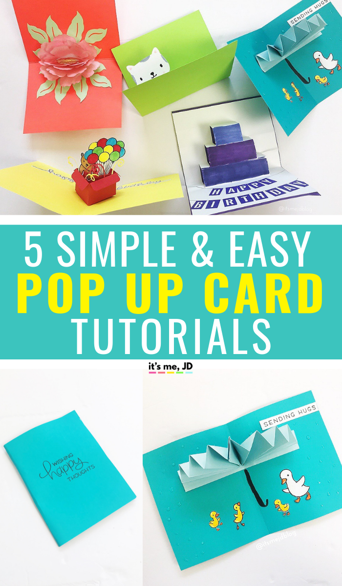 5 Simple And Easy Pop Up Card Tutorials It S Me Jd Diy Pop Up Cards Handmade Paper Crafts Card Tutorials