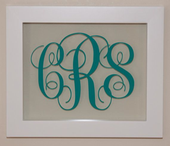Monogram In Floating Frame Size 8 X 10 By Minglewoodtrading 32 00 Custom Vinyl Decal Custom Vinyl Floating Frame