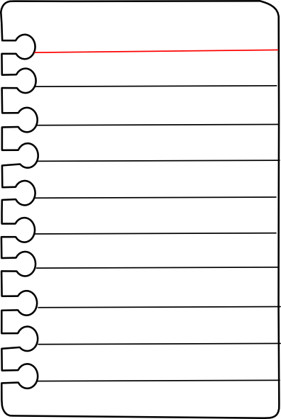 Line Art Journal : Free journal pages to print notebook paper clip art