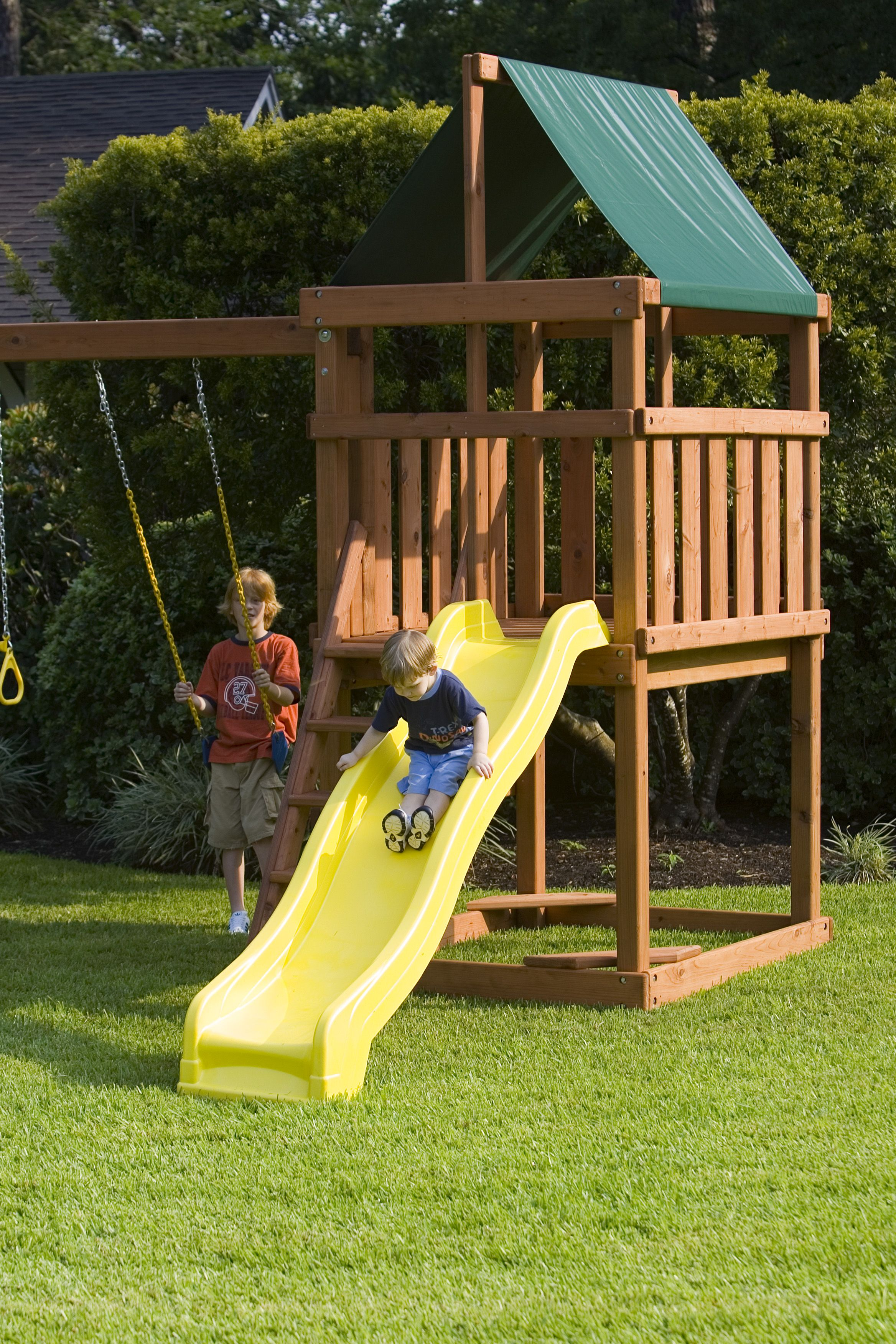 The Endeavor Do It Yourself Wooden Swingset And Wood Fort Play Set