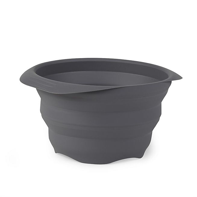 Silly Passoire En Silicone Retractable Gris Anthracite