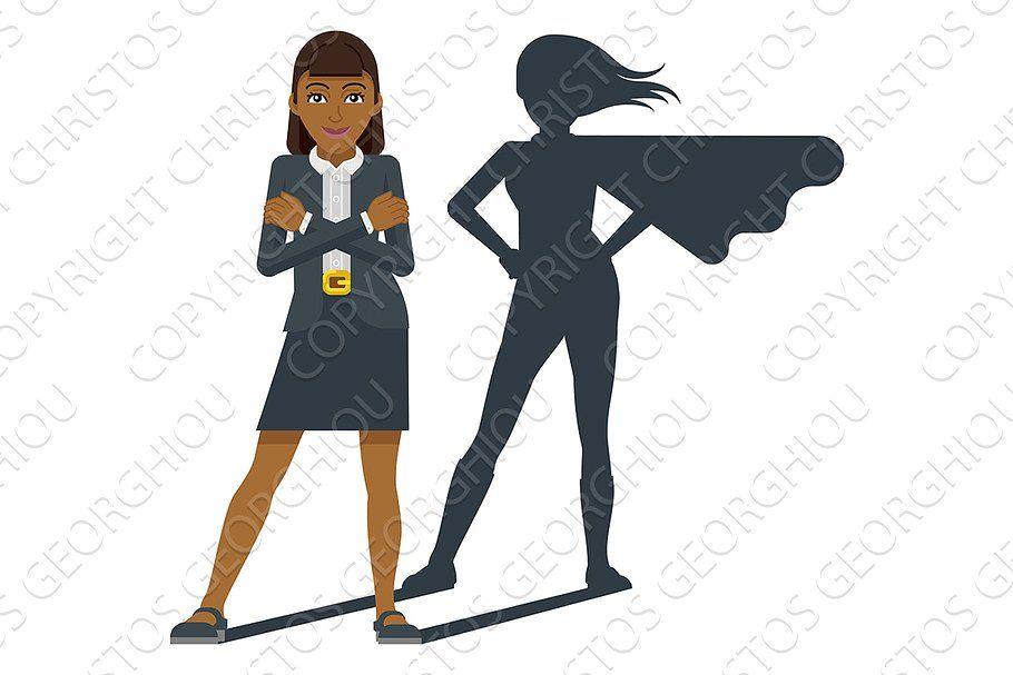 Business Woman Super Hero Shadow V 2020 G