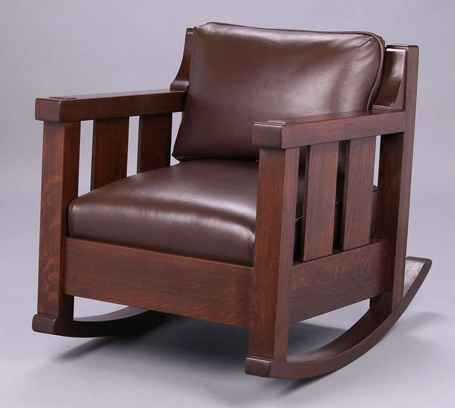 Massive Lifetime Furniture Co Rocker Signed Refinished Rock Solid Sturdy Mission Style Furniture Furniture Craftsman Style Textiles