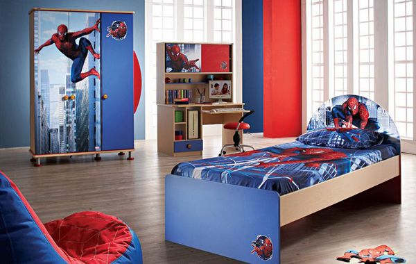 15 Kids Bedroom Design With Spiderman Themes Kids Bedroom