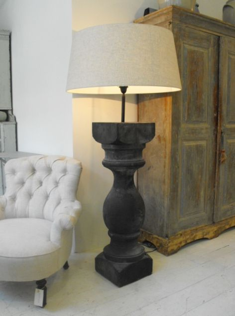 Bespoke Large Scale Balustrade Floor Lamp   This One Is Sold But Contact Us  For More, Plus French Antique Furniture, Art Deco Interior Decoration, ...