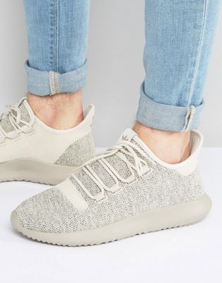 adidas Originals Tubular Shadow Knit Sneakers In Brown BB8824