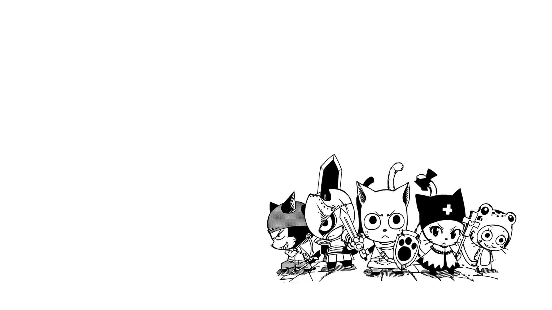 Fairy tail background. Happy cats of manga