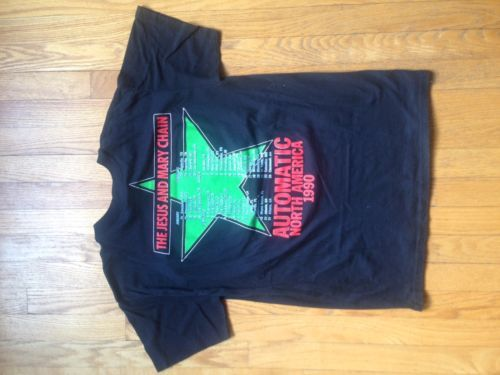 THE JESUS AND MARY CHAIN AUTOMATIC ECHO /& THE BUNNYMEN NEW WHITE T-SHIRT