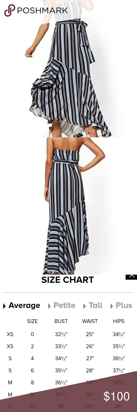 Sale Ny Co Stripe Maxi Dress Maxi Dress Blue Strapless Maxi Dress Striped Maxi Dresses [ 1740 x 580 Pixel ]