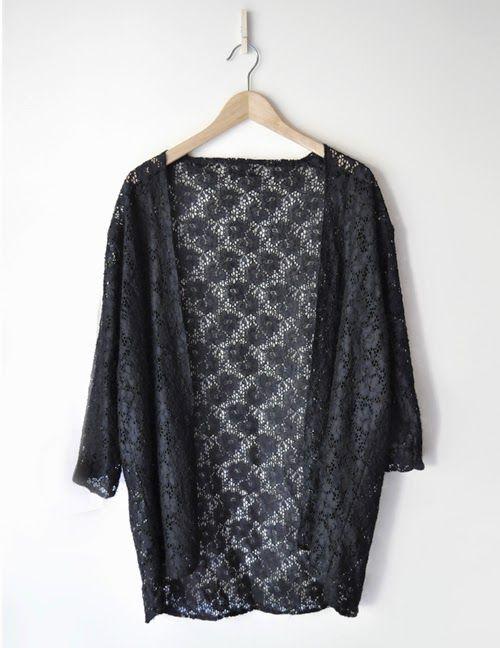 #iscomigoo #diy kimono en dentelle / lace kimono