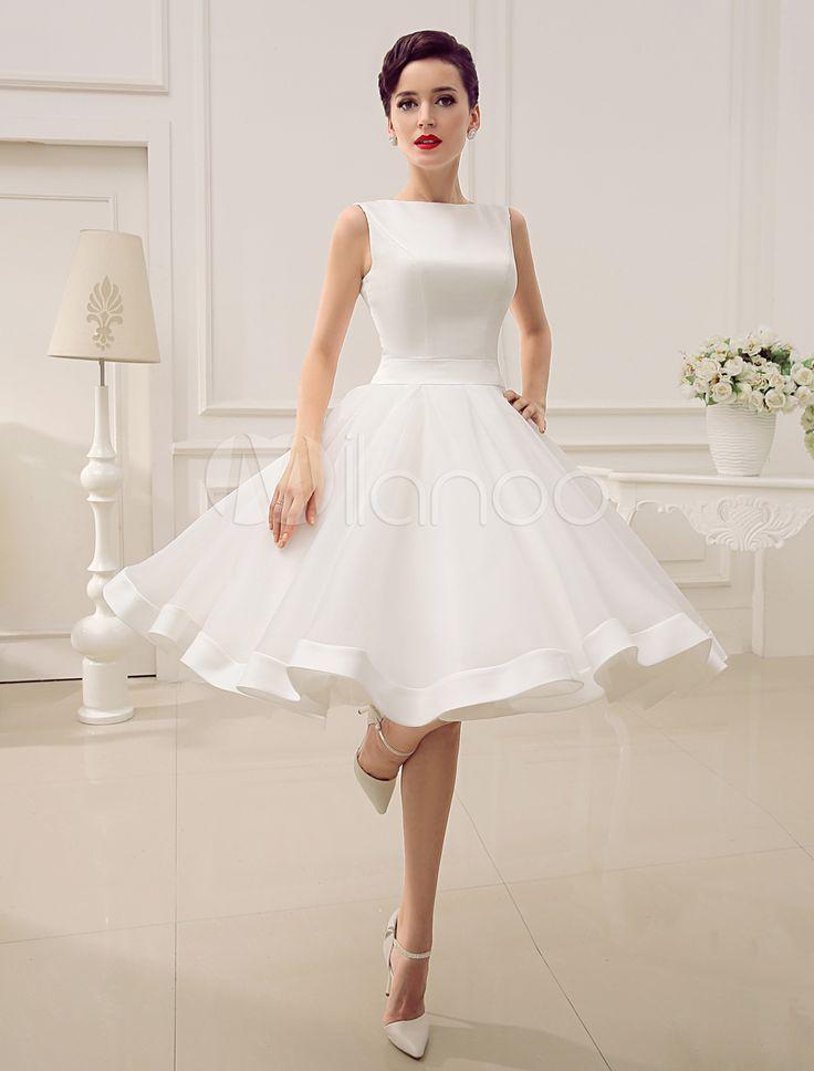 Kurzes 50er Jahre Vintage Brautkleid in Elfenbeinfarbe ...