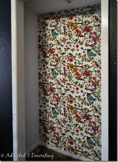 Diy Fail How To Not Wallpaper Your Walls With Fabric Addicted 2 Decorating Diy Fails Starched Fabric Wallpaper Fabric Wall Hanging