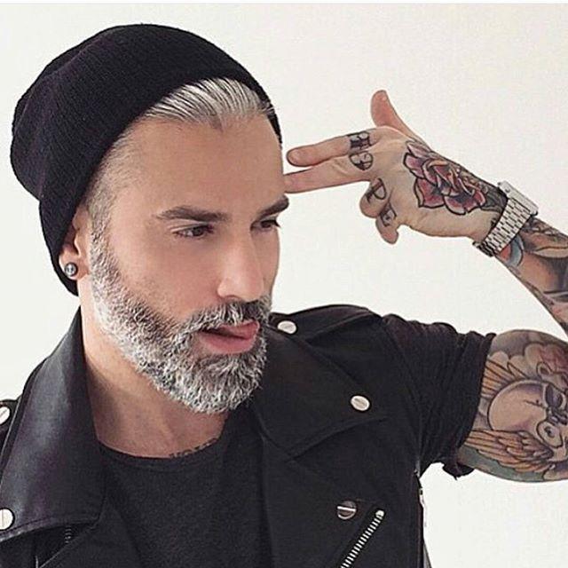 Model for Silver fox tattoo
