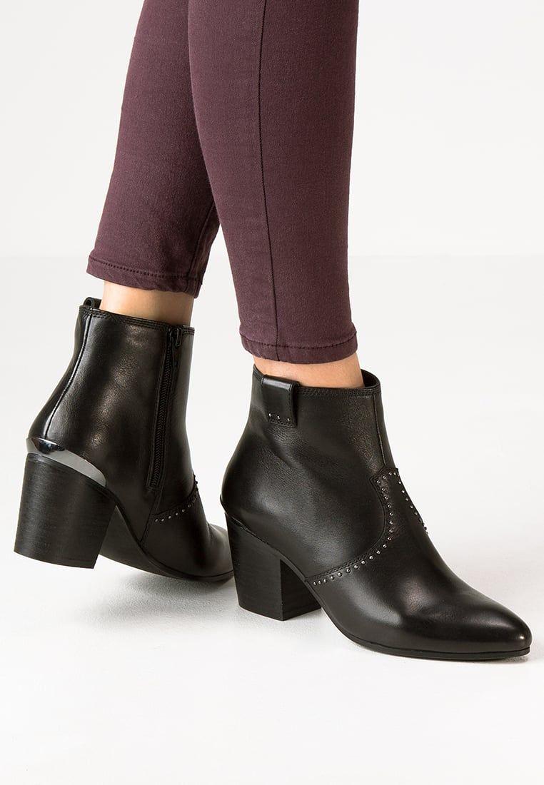 Spm Botki Kowbojki I Motocyklowe Black Zalando Pl Ankle Boot Boots Shoes
