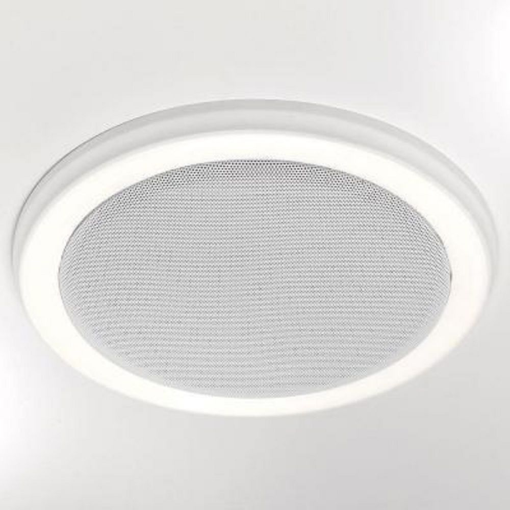 Bathroom Light Fixture With Bluetooth Stereo Speaker And Fan