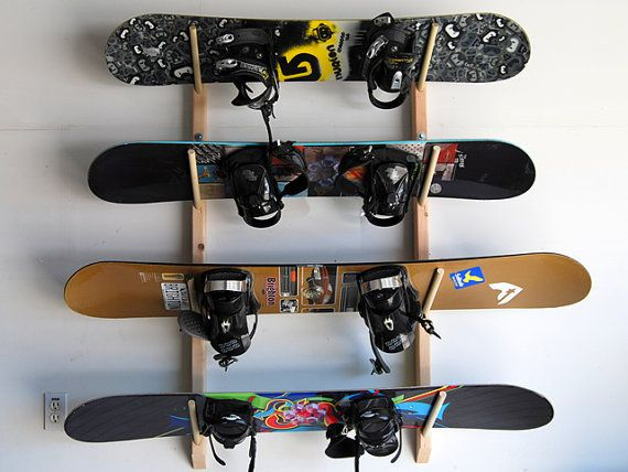 4 Snowboard Wall Storage Rack By Willowheights On Etsy