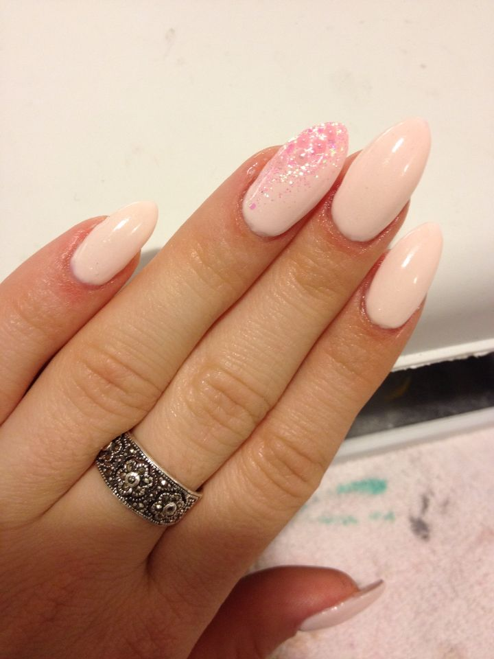 Gel almond shaped nails by Annie Trudel | Nails | Pinterest