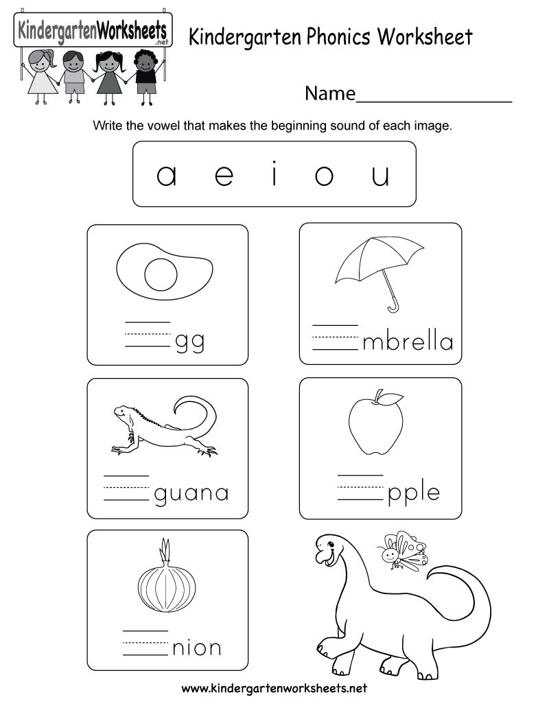 This Is A Fun Phonics Worksheet For Kindergarteners Kids Will