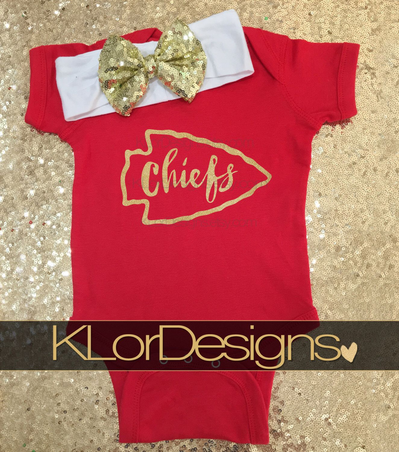 Kansas City Chiefs Kansas City onesie football onesie baby onesie