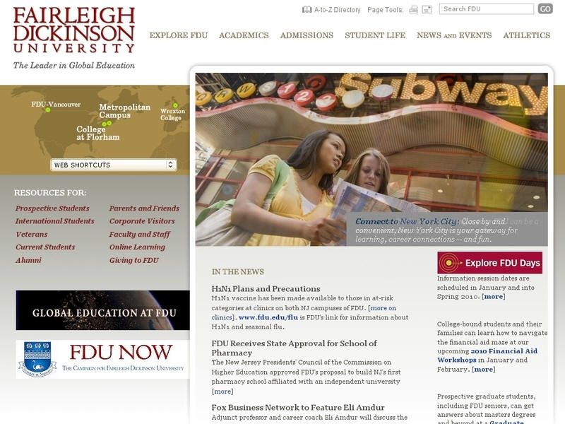 Fairleigh Dickinson University Metropolitan Campus University Global Education University List