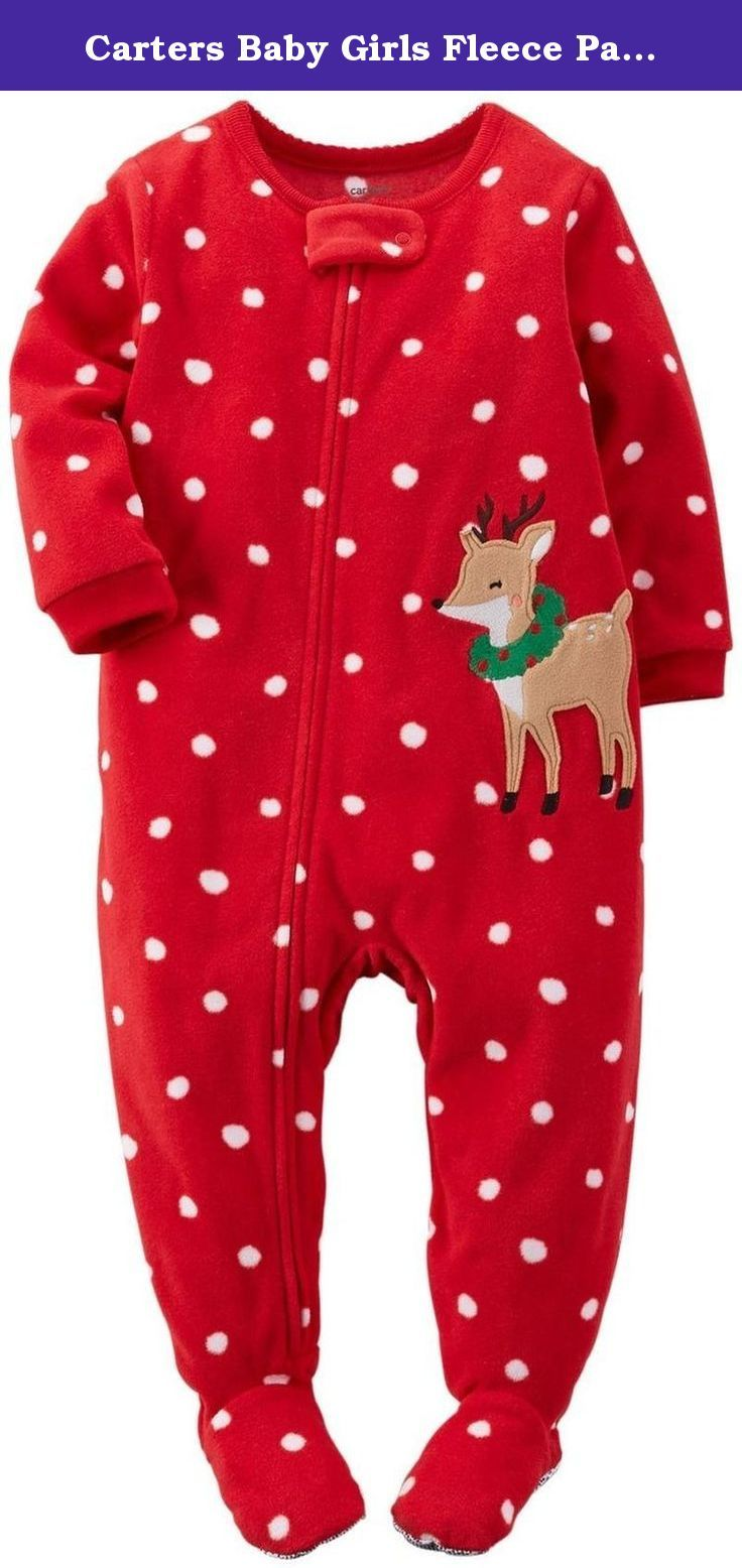08185d017 Carters Baby Girls Fleece Pajamas (24 Months
