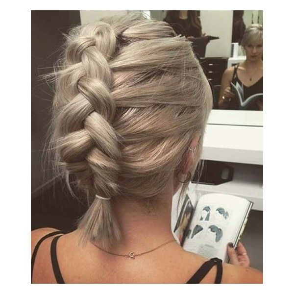 French Braid Short Hair Liked On Polyvore Featuring Accessories Hair Accessories And Sh Braids For Short Hair French Braid Short Hair Braid Crown Short Hair