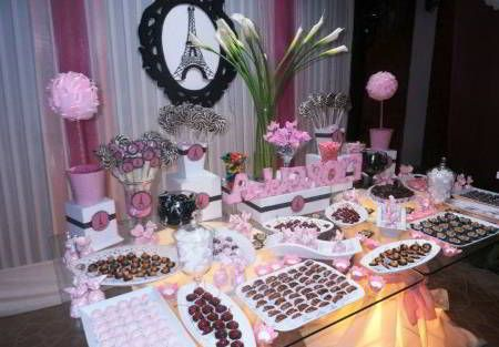 Mesa de comida para decoracion en casa mia 15 anos for Decoracion de 15 anos en casa