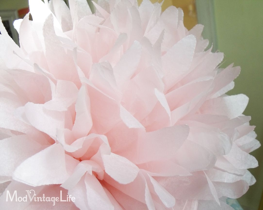 Mod Vintage Life Tissue Paper Flowers The Tutorial Home