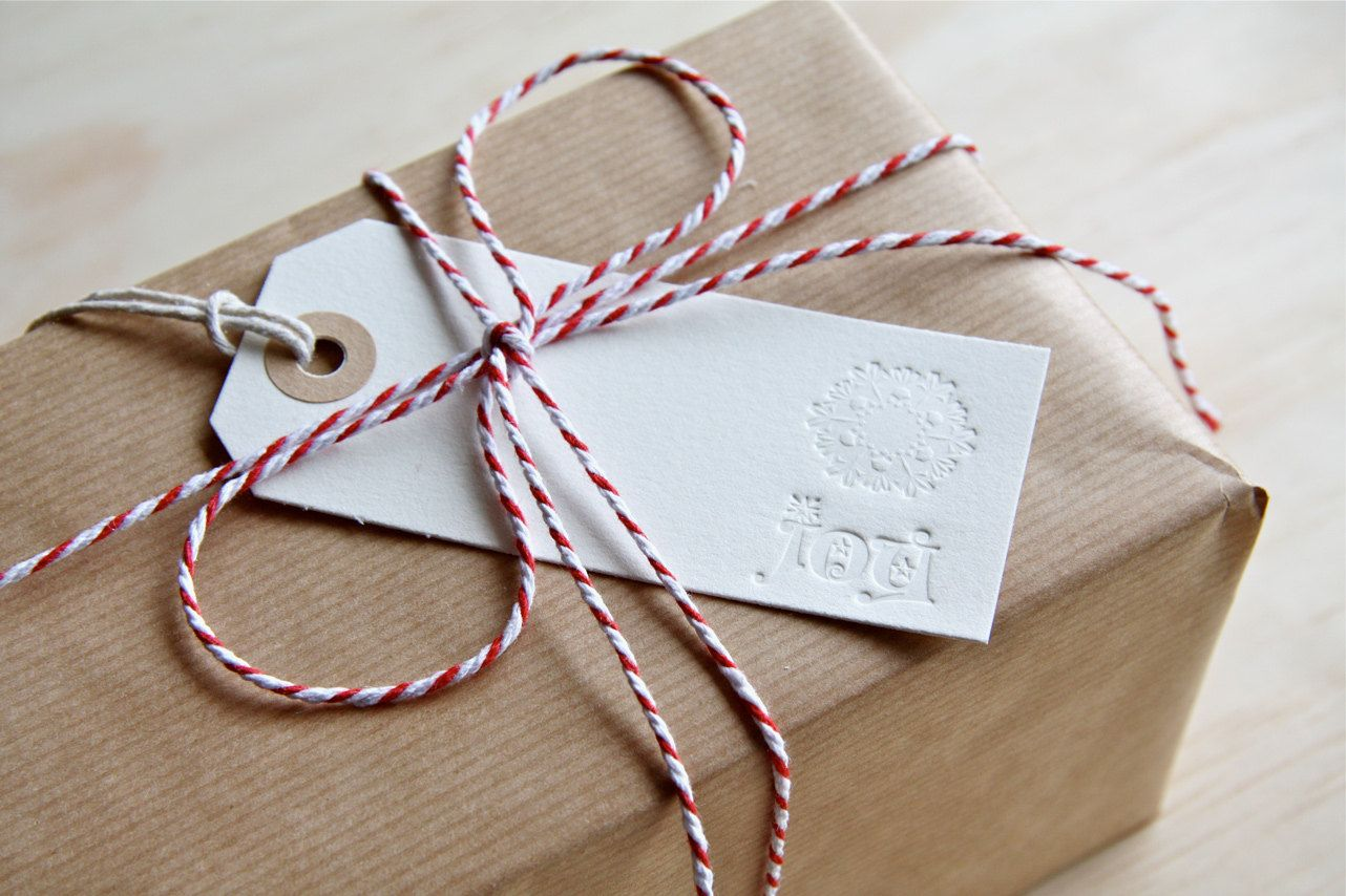 Doily Peace Joy Hope Letterpress Christmas Gift Tags X6 Gifts