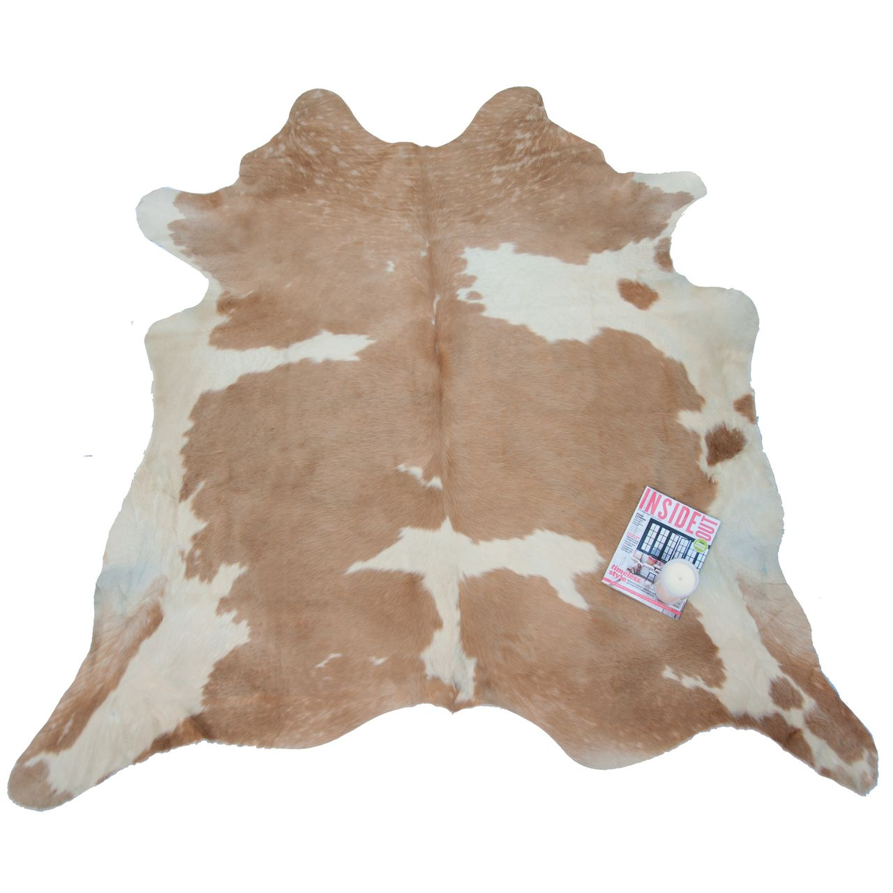Beige White Special Natural Cowhide Rug