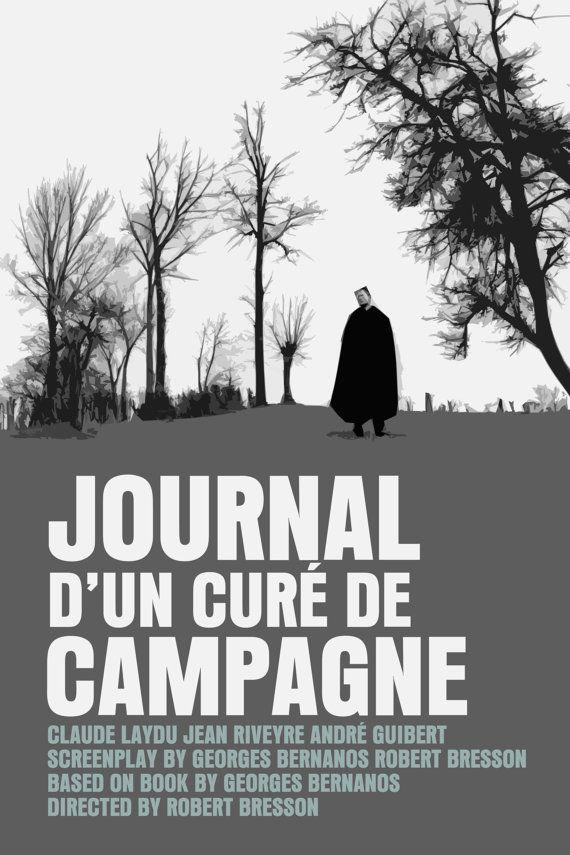 Journal d/'un cure de campagne Bresson movie poster print