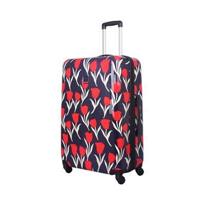 Tripp Tulip Hard 4-Wheel Large Suitcase Navy /Red | Debenhams ...