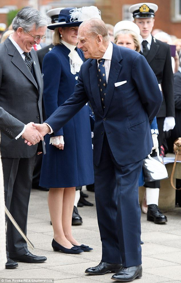 Prince Philip joins the Queen on a school visit | Prince philip ...