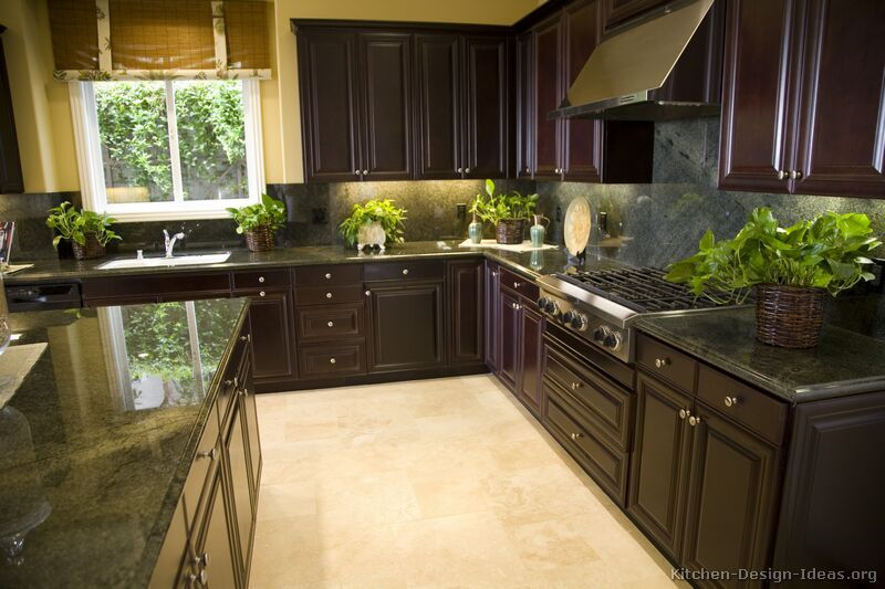 Paint Kitchen Cabinets Espresso traditional dark wood / black / espresso kitchen cabinets #13