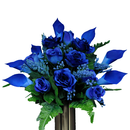 Ma1014 Blue Rose And Calla Lily Png 445 445 Rose Flower Arrangements Calla Lily Bud Vases Arrangements