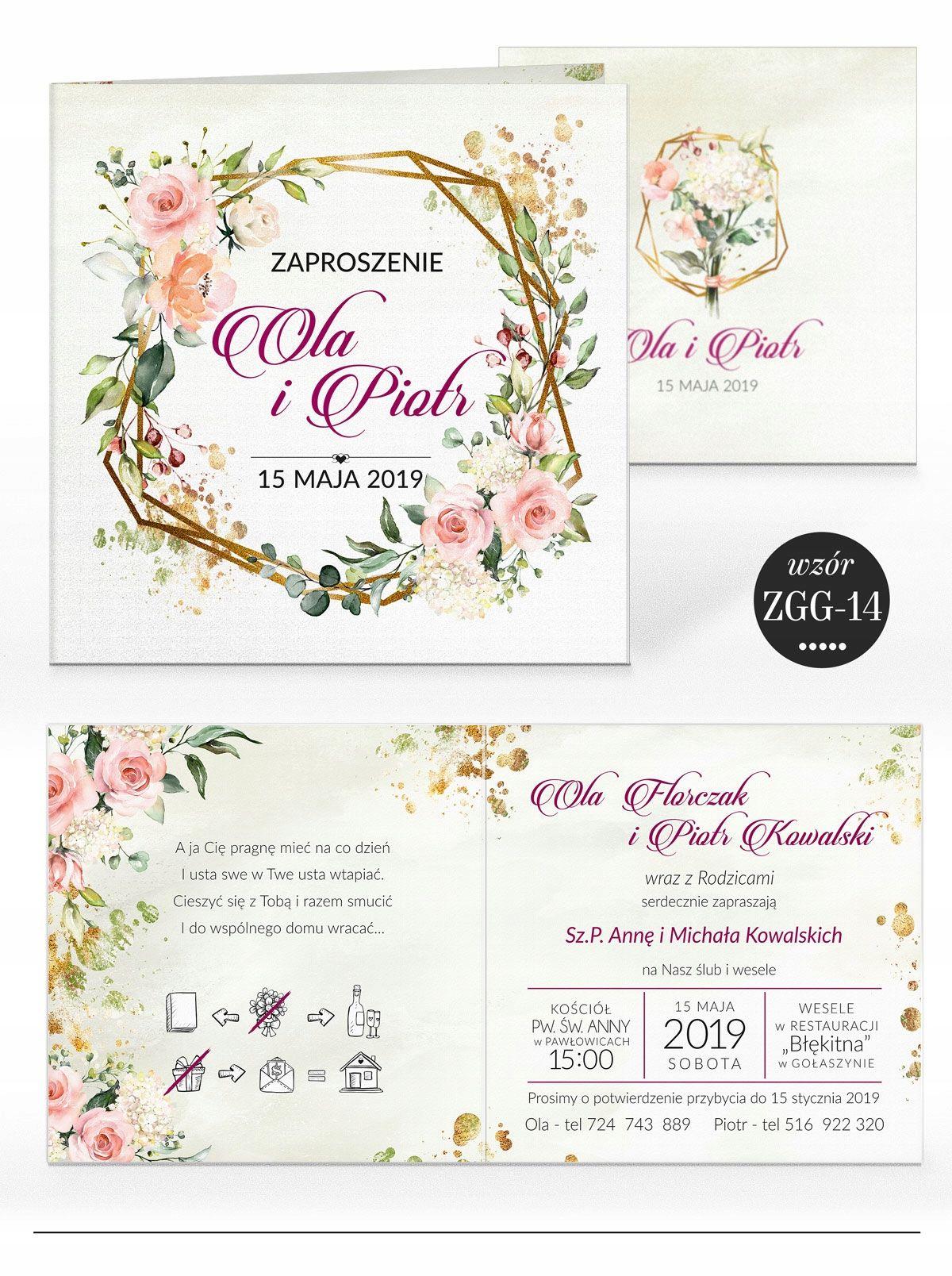 Zaproszenia Slubne Rustykalne Kwiaty Koperta Wedding Wedding Decorations Wedding Inspiration